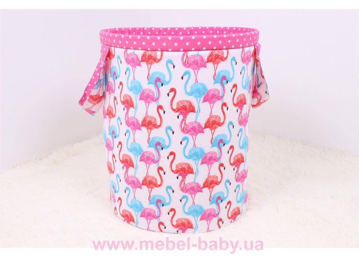 Корзина для игрушек фламинго Мирамель