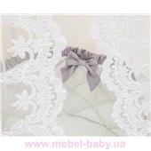 Комплект в овальную кроватку Belissimo серый 6 предметов Маленькая Соня