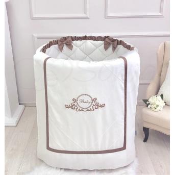 Комплект в овальную кроватку Belissimo шоколад 6 предметов Маленькая Соня