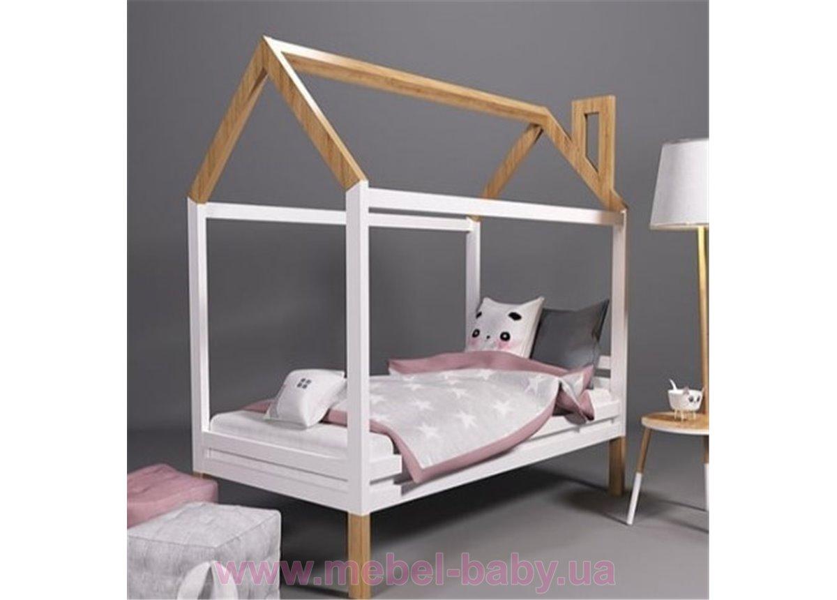 Кровать-домик на ножках Ирель 80х190 белый