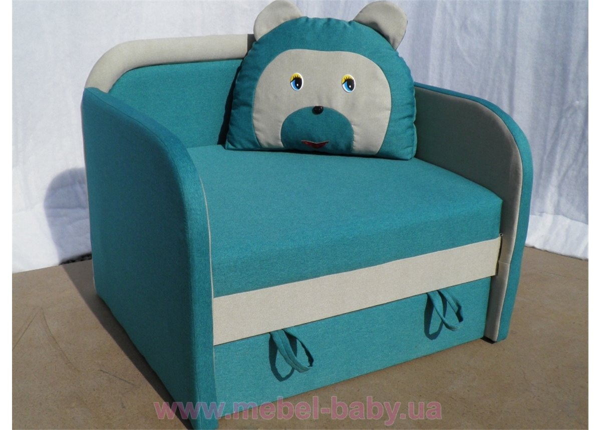 Детский диван Медведь 85х85 Орбита