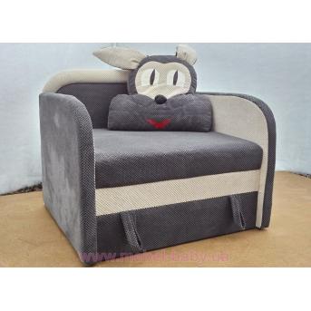 Детский диван Заяц 85х85 Орбита