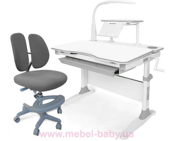 Комплект Evo-kids (стол+полка+кресло+лампа) Evo-30 G Grey