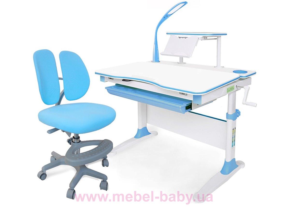 Комплект Evo-kids (стол+полка+кресло+лампа) Evo-30 BL Blue