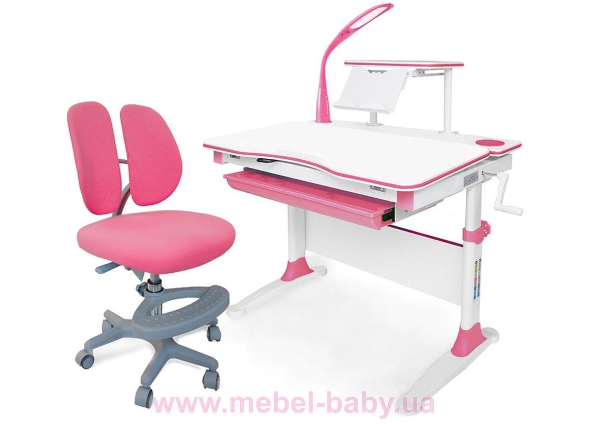 Комплект Evo-kids (стол+полка+кресло+лампа) Evo-30 PN Pink