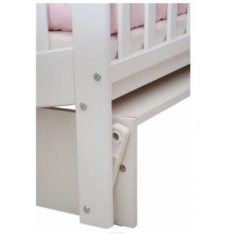 Кроватка с маятниковым механизмом Соня ЛД 19 Верес 60х120 Белый