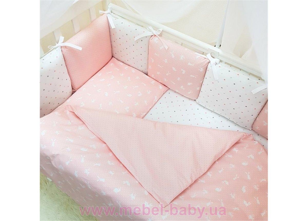 Сменный комплект постельного белья Baby Design Кролики пудра Маленькая Соня