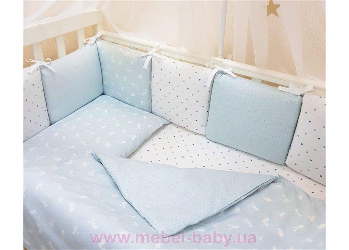Сменный комплект постельного белья Baby Design Кролики голубой Маленькая Соня