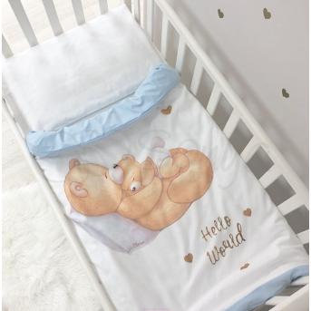 Сменный комплект постельного белья Happy Baby Маленькая Соня голубой