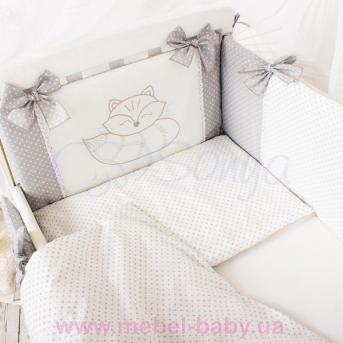 Сменный комплект постельного белья Smile серый Маленькая Соня