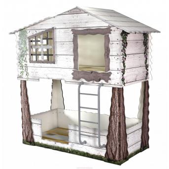 Двухъярусная кровать Домик на дереве 200х90 Plastiko
