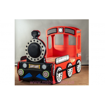 Кровать-машинка Поезд 90х190 Plastiko