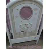 Распродажа не качающаяся кроватка для новорожденных Chic 65x125 Pali Белый