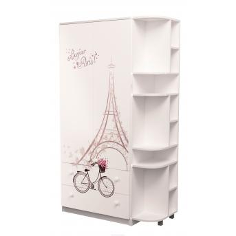 Шкаф комбинированный с ящиками плюс эркер Париж MebelKon 211х110х50