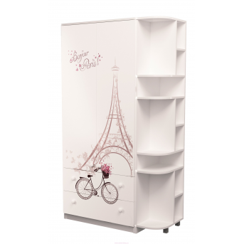Шкаф комбинированный с ящиками плюс эркер Париж MebelKon 211х130х50
