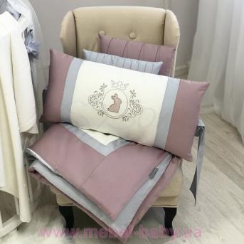 Комплект Royal пудра для круглых кроваток (6 предметов) Маленькая Соня