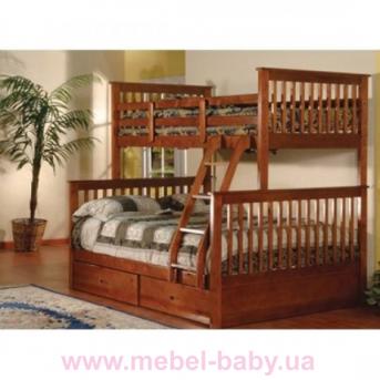 Двухъярусная кровать-трансформер Буратино Дервета 80x190