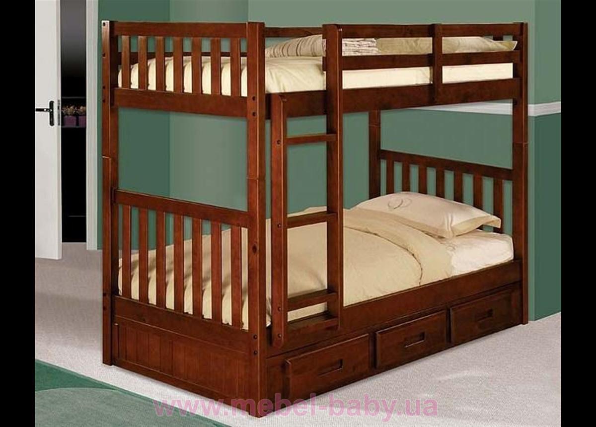 Двухъярусная кровать-трансформер Милан Дервета 80x190