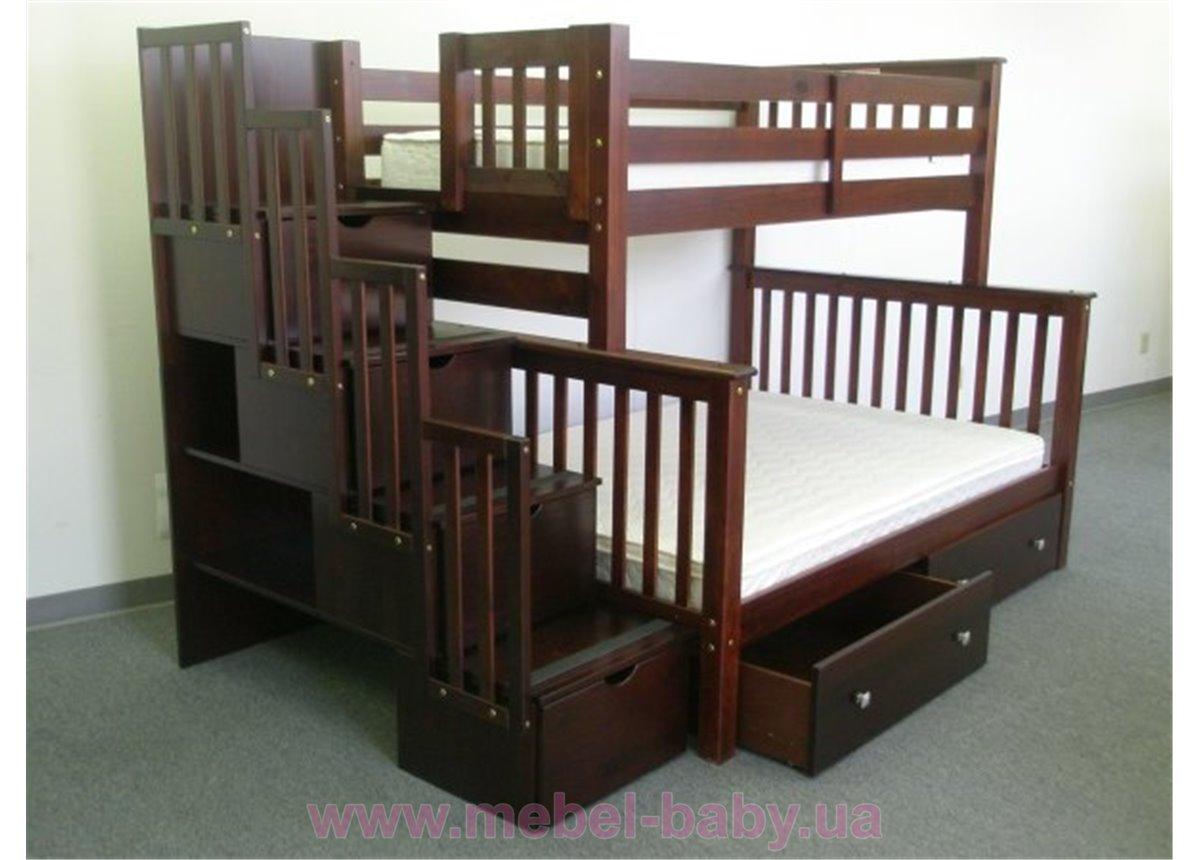 Двухъярусная кровать Полигон Дервета 80x190