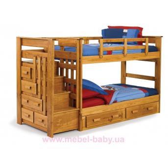 Двухъярусная кровать Полигон Дервета 190x90