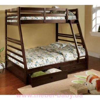 Двухъярусная кровать-трансформер Кайли Дервета 80x190