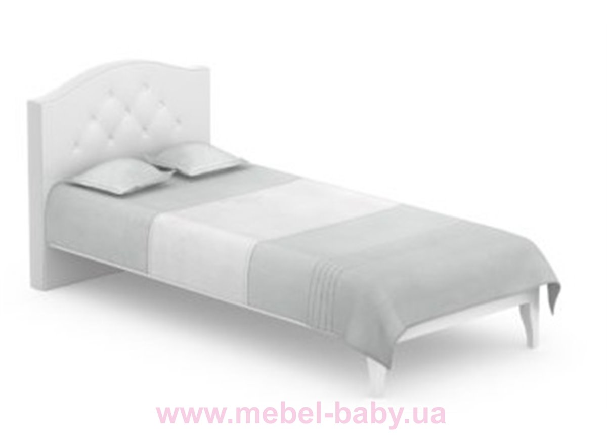 507_Кровать RE Crystal Серия Boho Meblik 90x200 Белый