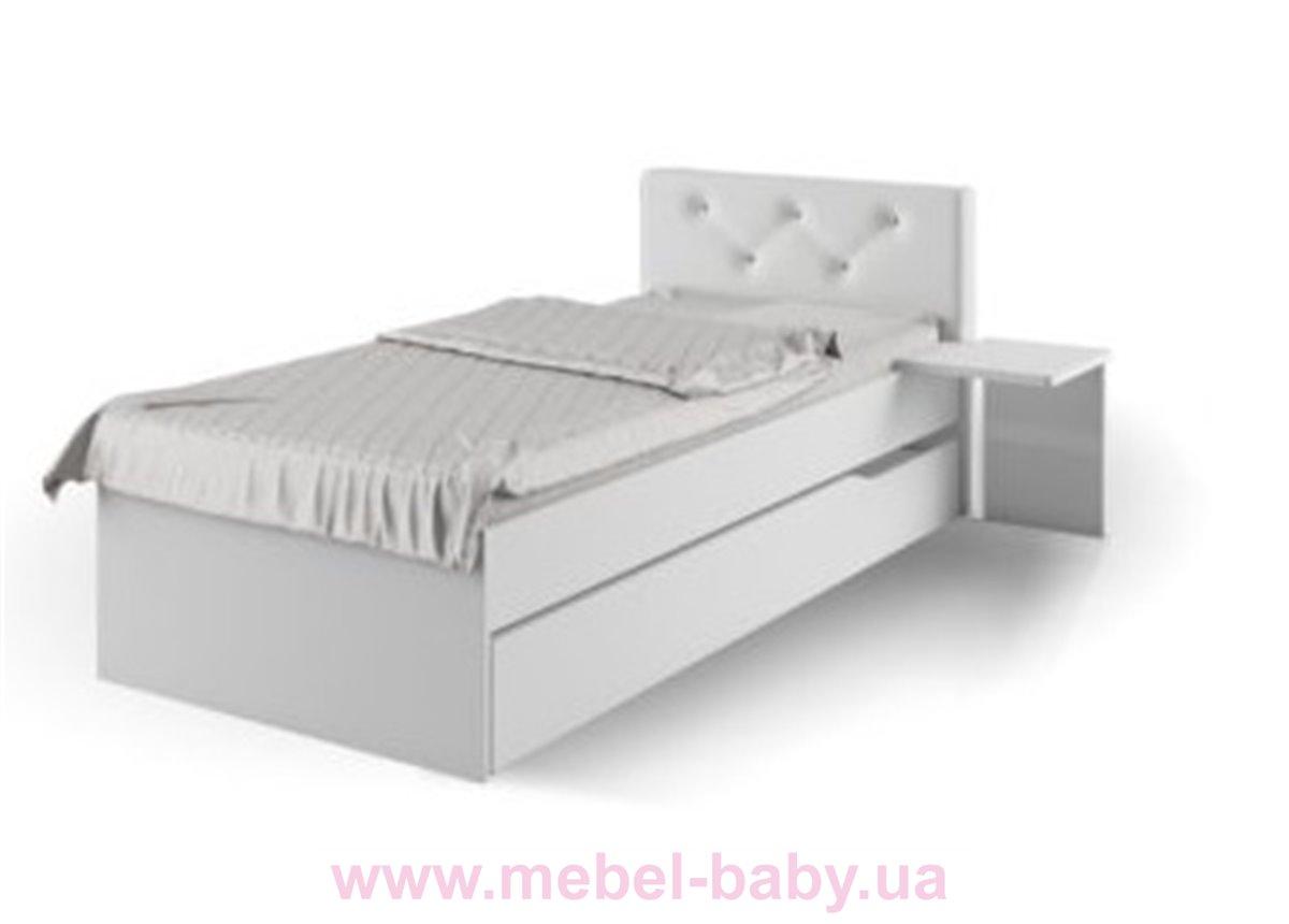 427_Кровать YO 90х190 Серия Fashion Grey Meblik белая