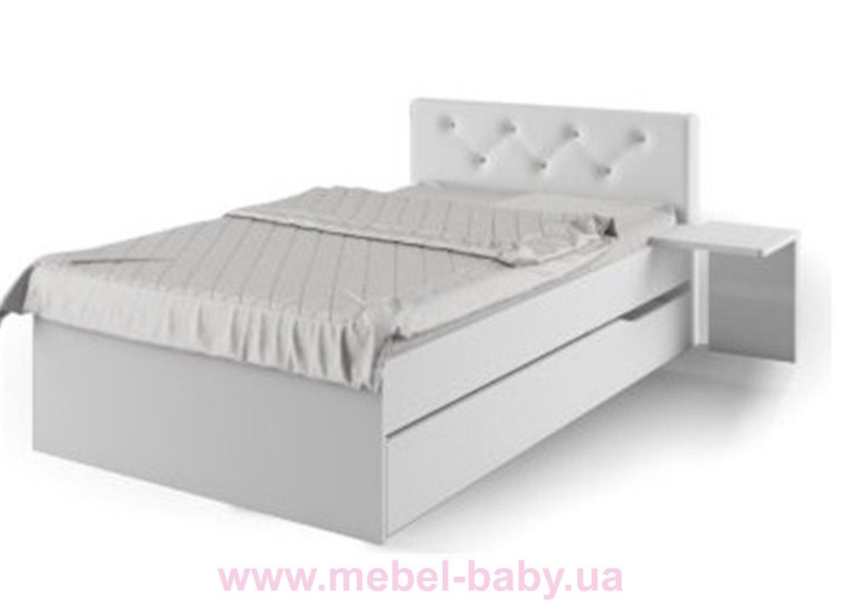 428_Кровать YO 120x190 Серия Fashion Grey Meblik белая