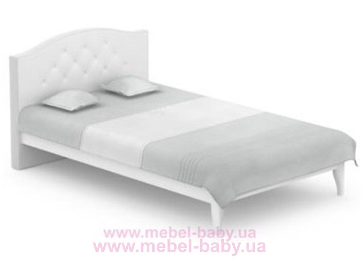 508_Кровать RE Crystal Royal White Meblik 120x200 Белый