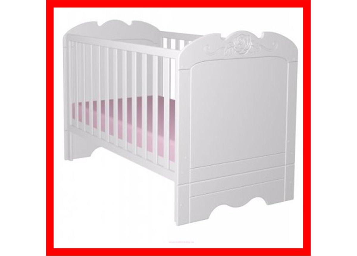 Распродажа 431_Детская кроватка 140x70 Серия бьянко фиори  Meblik 1