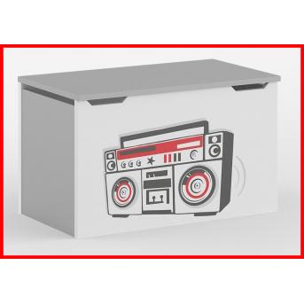 Распродажа 270_Ящик для игрушек Серия Music Live Red