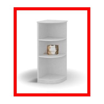 Распродажа 193_Стеллаж угловой низкий Серия Frozen Meblik 34x34 белый