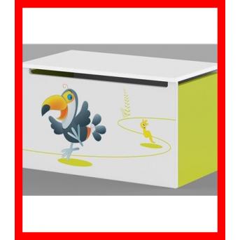 Распродажа 17_Ящик для игрушек Meblik Серия Happy animals green