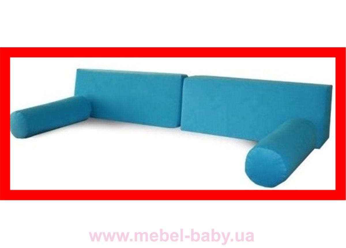 Распродажа 946_Набор подушек и валиков Meblik голубой