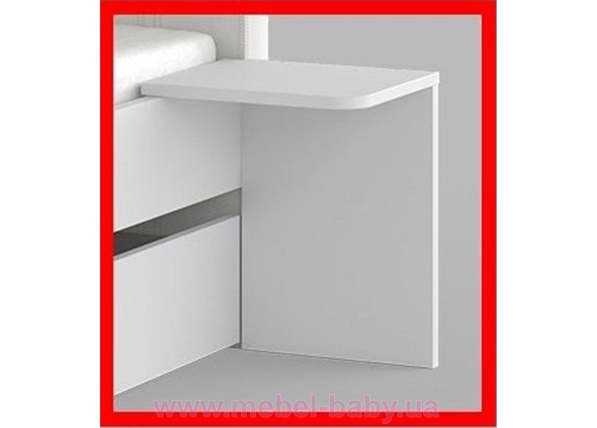 Распродажа 288_Ночной столик для кровати с твердым изголовьем Meblik белый
