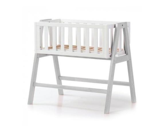 Люлька детская Manhattan Верес 40х75 бело-серая