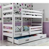 Двухъярусная кровать + 2 матраса + 1 ящик + бортик ERYKBunk BMS Group 80x160