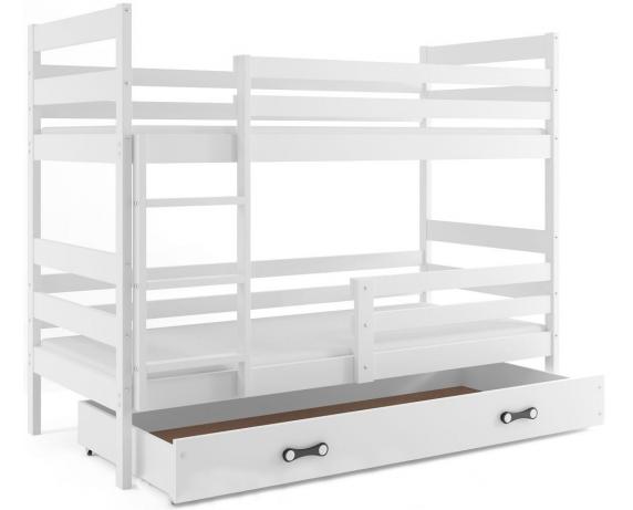 Двухъярусная кровать + 2 матраса + 1 ящик + бортик ERYK Bunk BMS Group 80x190