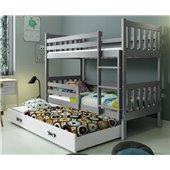 Двухъярусная кровать + доп. место + 3 матраса + бортик  CARINOTriple BMS Group 80x190