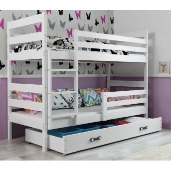 Двухъярусная кровать + доп. место + 3 матраса + бортик ERYK Triple BMS Group 80x160