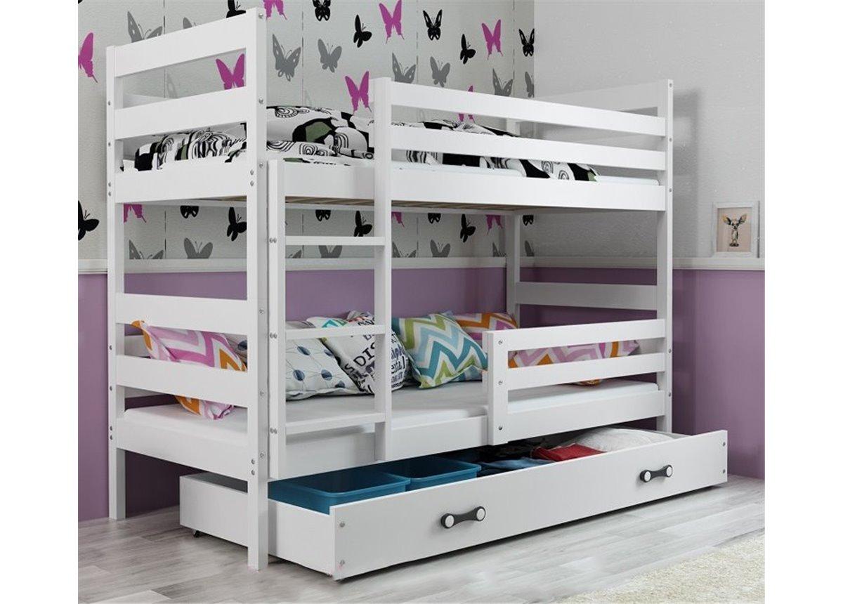 Двухъярусная кровать + доп. место + 3 матраса + бортик  ERYKTriple BMS Group 80x160