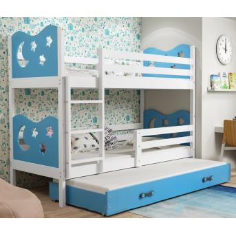 Двухъярусная кровать + доп. место + 3 матраса + бортик  MIKOTriple BMS Group 80x160