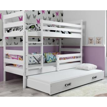 Двухъярусная кровать + доп. место + 3 матраса + бортик Eryk Triple BMS Group 90x200