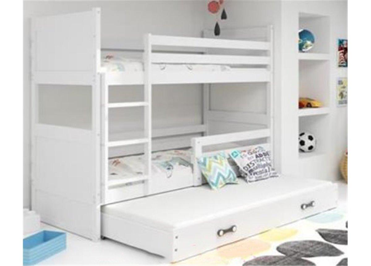 Двухъярусная кровать + доп. место + 3 матраса + бортик RICOTriple BMS Group 90x200