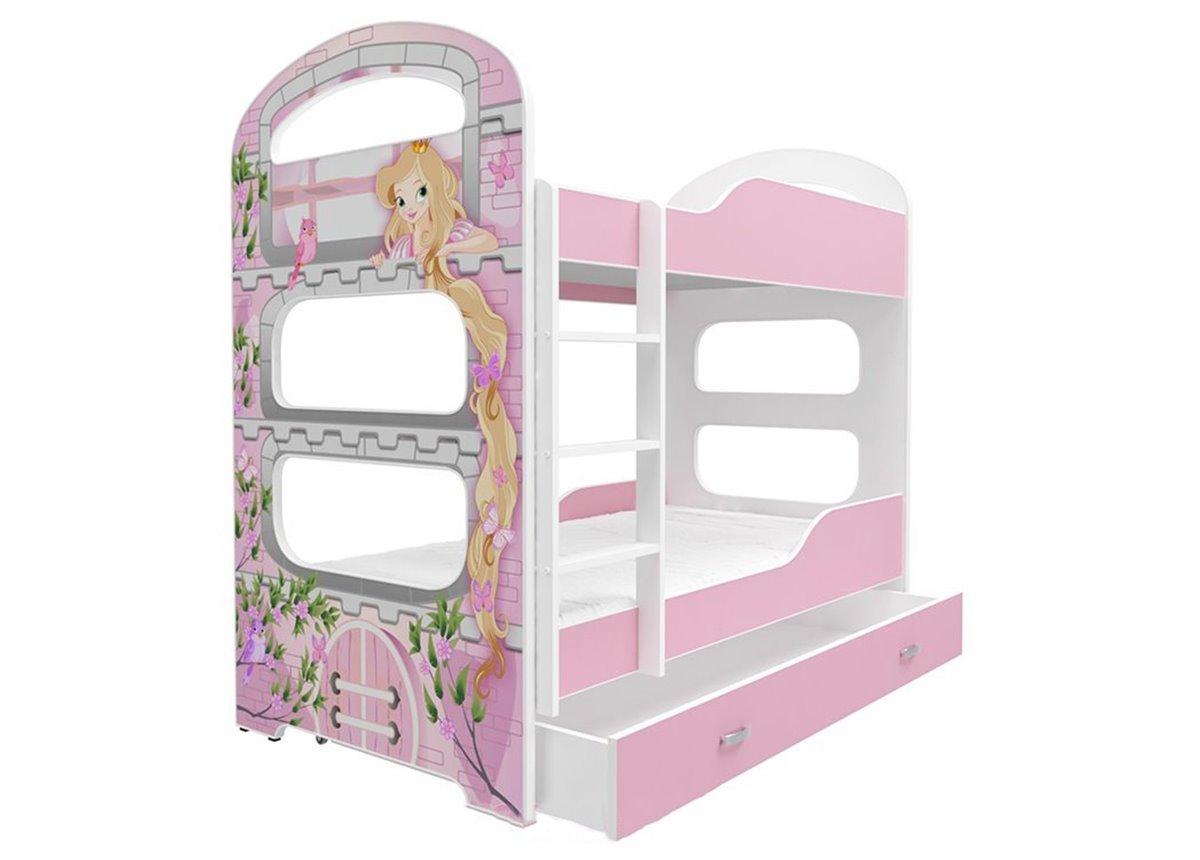 Двухъярусная кровать DOMINIK N для девочки с ящиком Fmebel KA