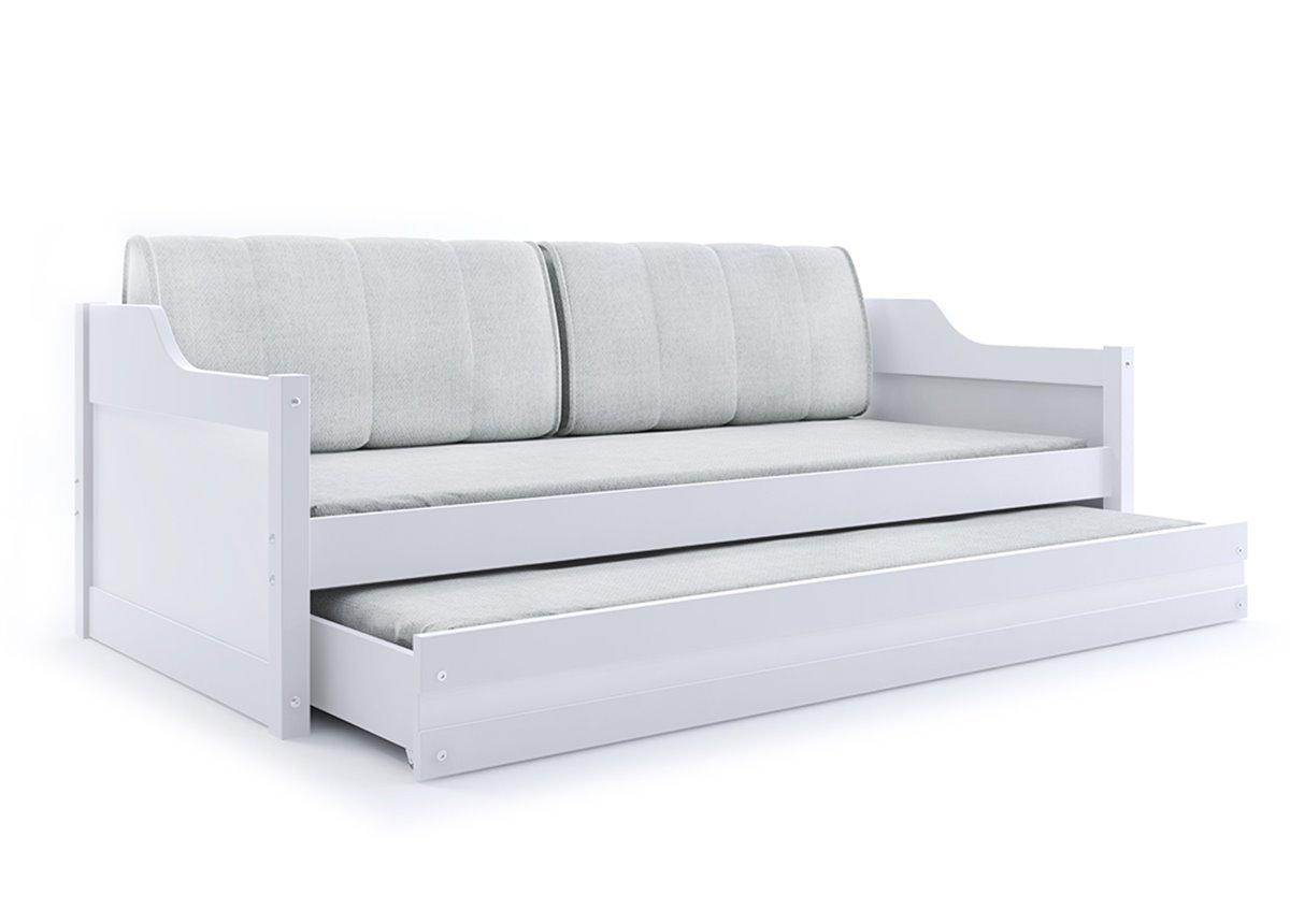 Кровать + доп. место + 2 матраса + 2 подушки DAWID TrundleBMS Group 80x190