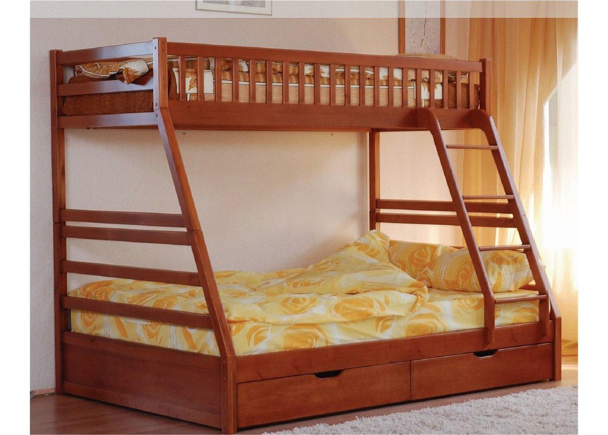 Двухъярусная кровать Юлия (с ящиками) Венгер 90х200