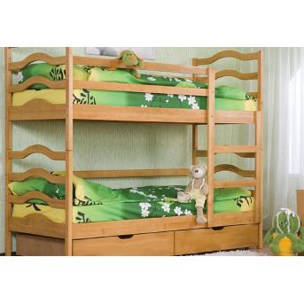Двухъярусная кровать София (с ящиками) Венгер 80х190