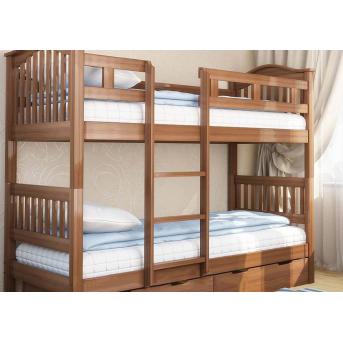 Двухъярусная кровать Максим (без ящика) Венгер 90x200 Дерево