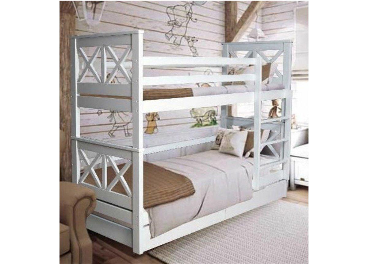 Двухъярусная кровать Лея Мистер Мебл 90х200 Дерево